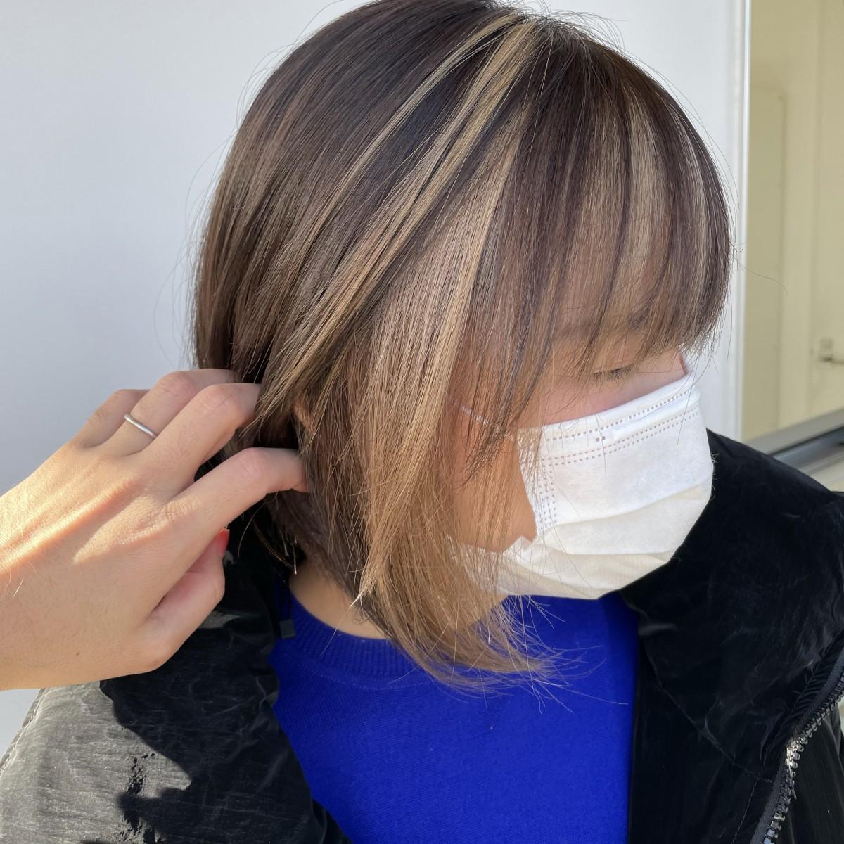 前髪インナー フェイスフレーミング 太田市